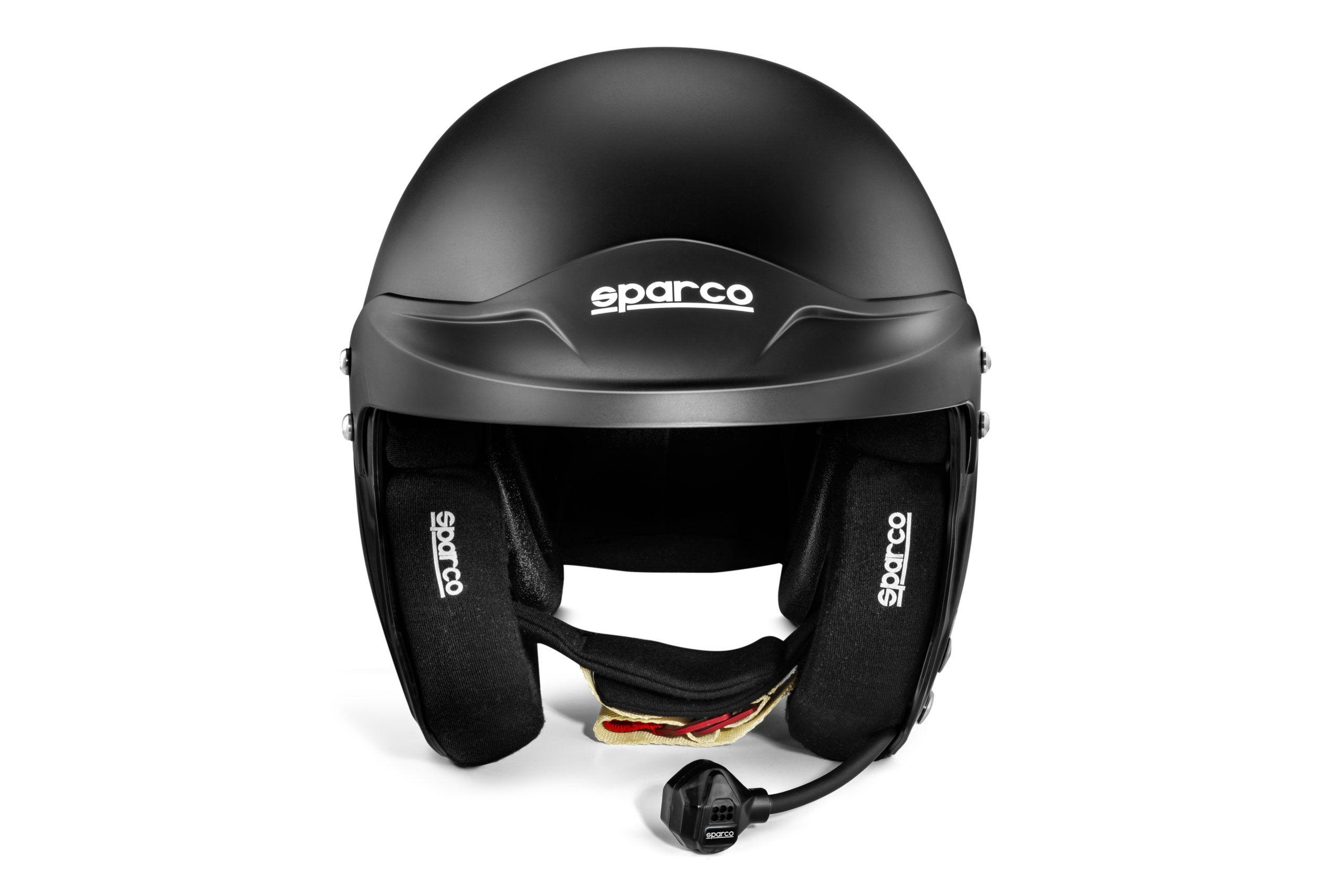 Sparco Pro RJ 5i Rally cross helm zwart met HANS clips