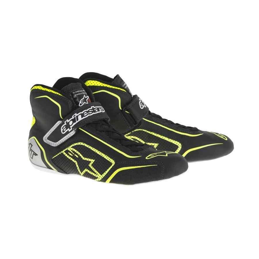 Alpinestars Tech 1-T Formule schoen Zwart Fluo Geel Zilver