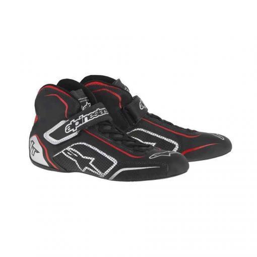 Alpinestars Tech 1-T Autosport schoen zwart zilver rood