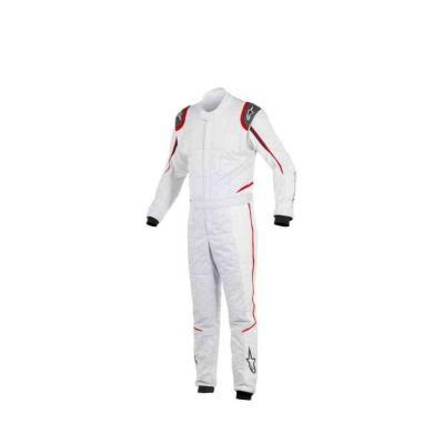 Alpinestars GP Tech FIA Raceoverall type LM Zilver Wit met Rood Accent