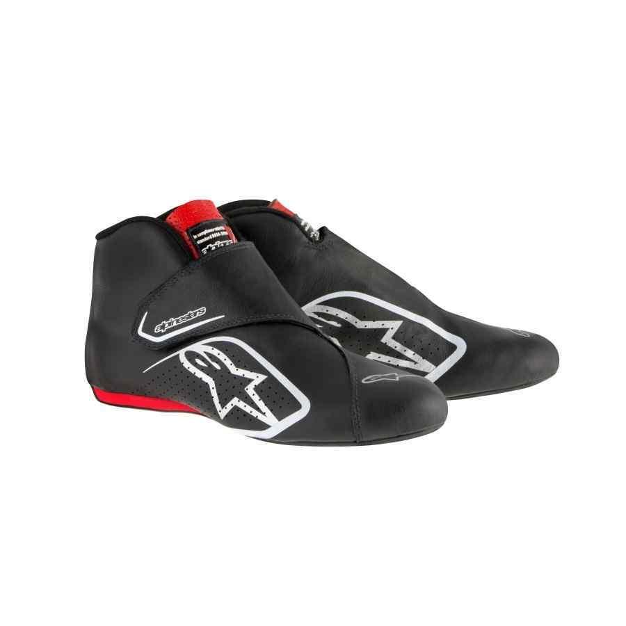 Alpinestars Supermono Autosportschoen Zwart Rood Flexibel FIA
