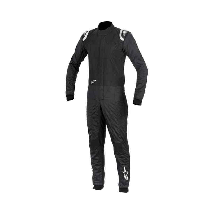 Alpinestars Supertech Fia Race Suit Zwart Zilver Wit