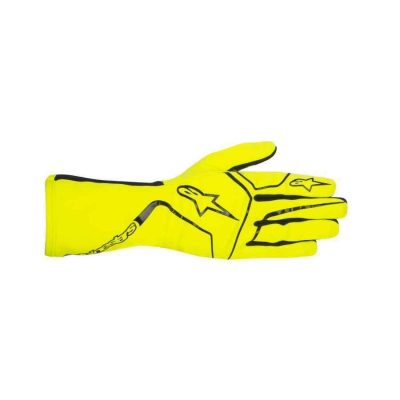 Alpinestars Tech 1-K Race handschoen indoor karting fluogeel