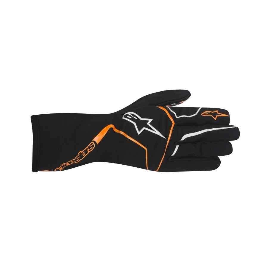 Alpinestars kartinghandschoen Tech 1-K Race zwart fluo oranje