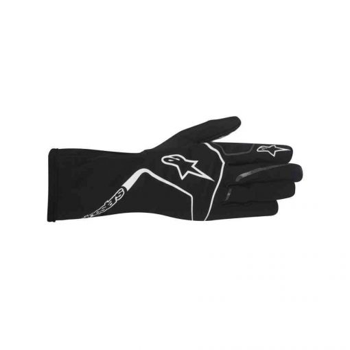 Alpinestars Tech 1-K Race handschoen voor kinderen zwart wit