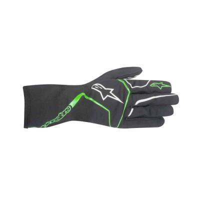 Alpinestars handschoen voor karting type Tech 1-K Race anthraciet groen