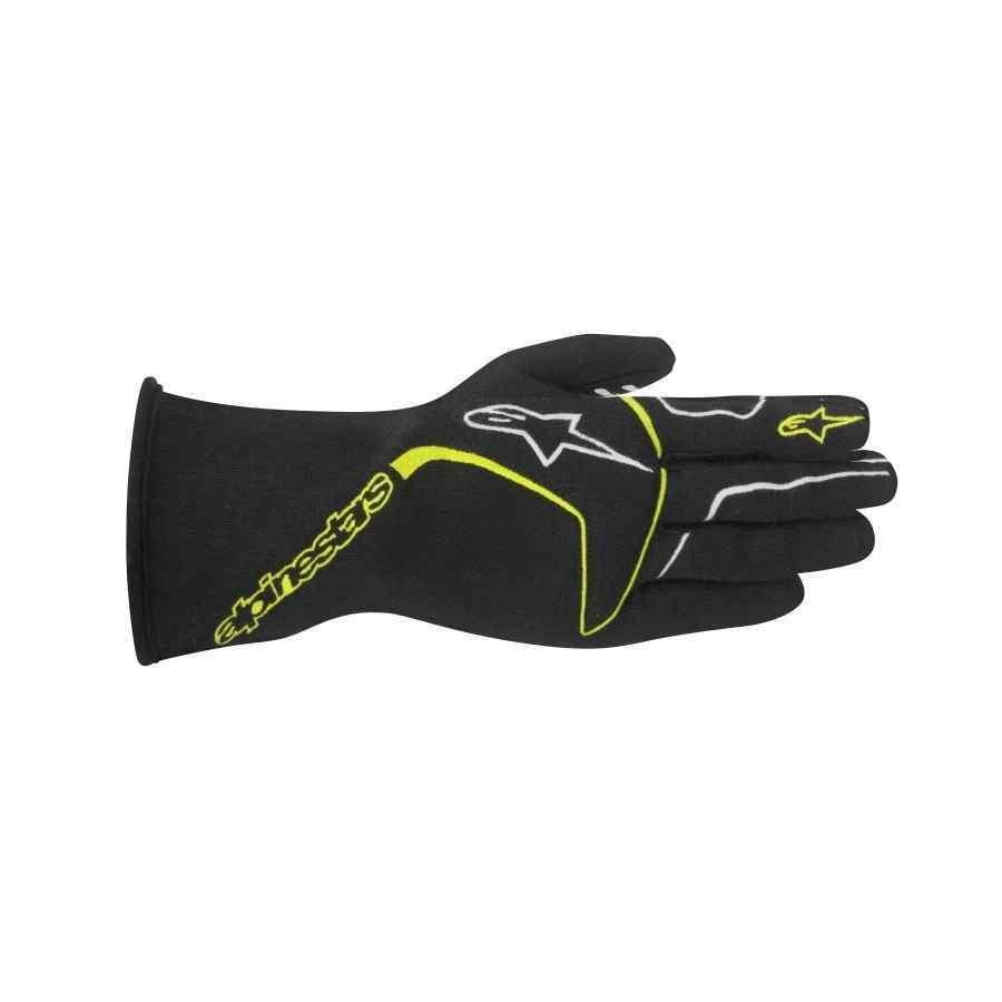 Alpinestars Tech 1-Race FIA autosport handschoenen Zwart Fluo Geel