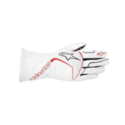 Alpinestars Tech 1Race FIA handschoen voor autosport Wit Rood Zwart