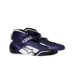 Alpinestars schoen voor autosport type Tech 1T blauw wit zwart
