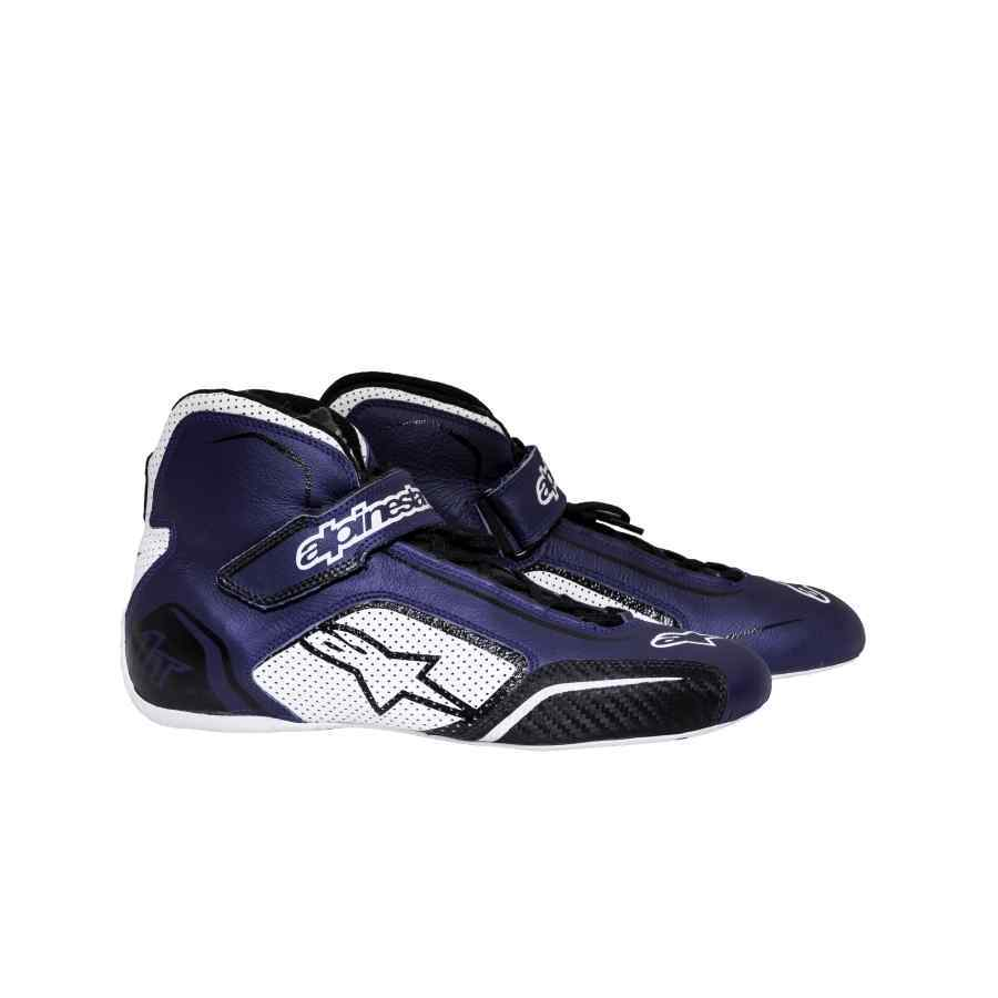 8ff1242f0c3 Alpinestars schoen voor autosport type Tech 1T blauw wit zwart