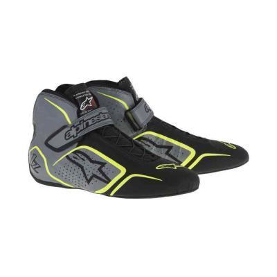 Alpinestars Tech 1-Z Autosportschoen anthraciet zwart fluo geel