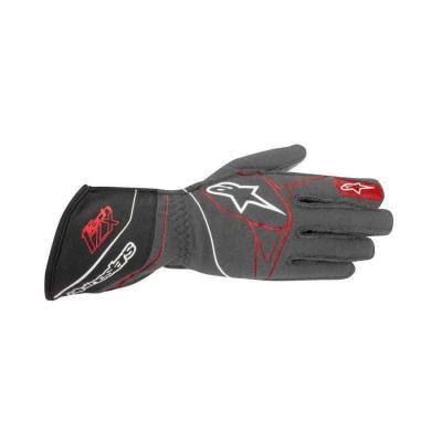 Alpinestars Tech 1 ZX FIA handschoen Antraciet Zwart Rood