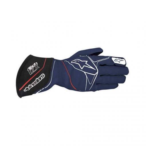 Alpinestars Tech 1 ZX FIA handschoen Navy Blauw Wit Rood