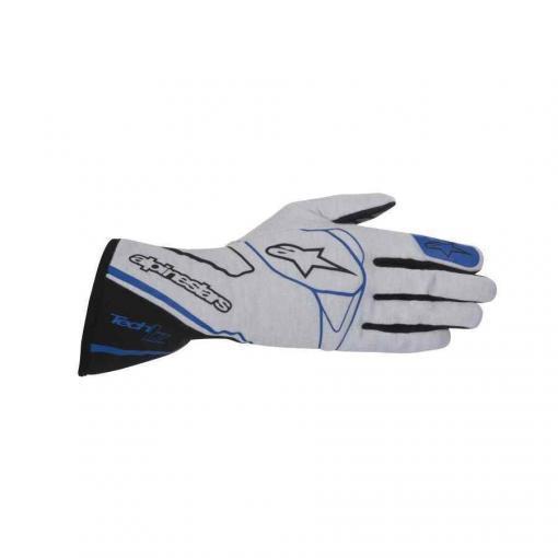 Alpinestars auto racing handschoen Tech 1Z Zilver Zwart Blauw