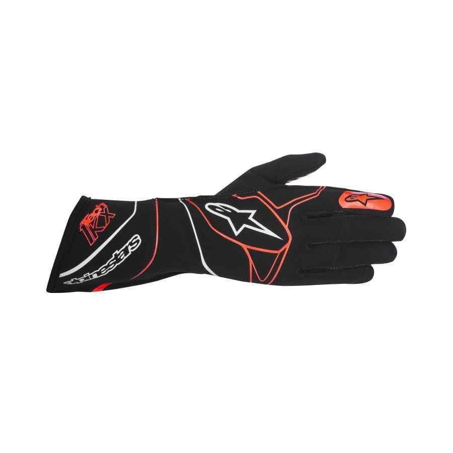 Alpinestars tech 1 kx handschoen kart zwart rood
