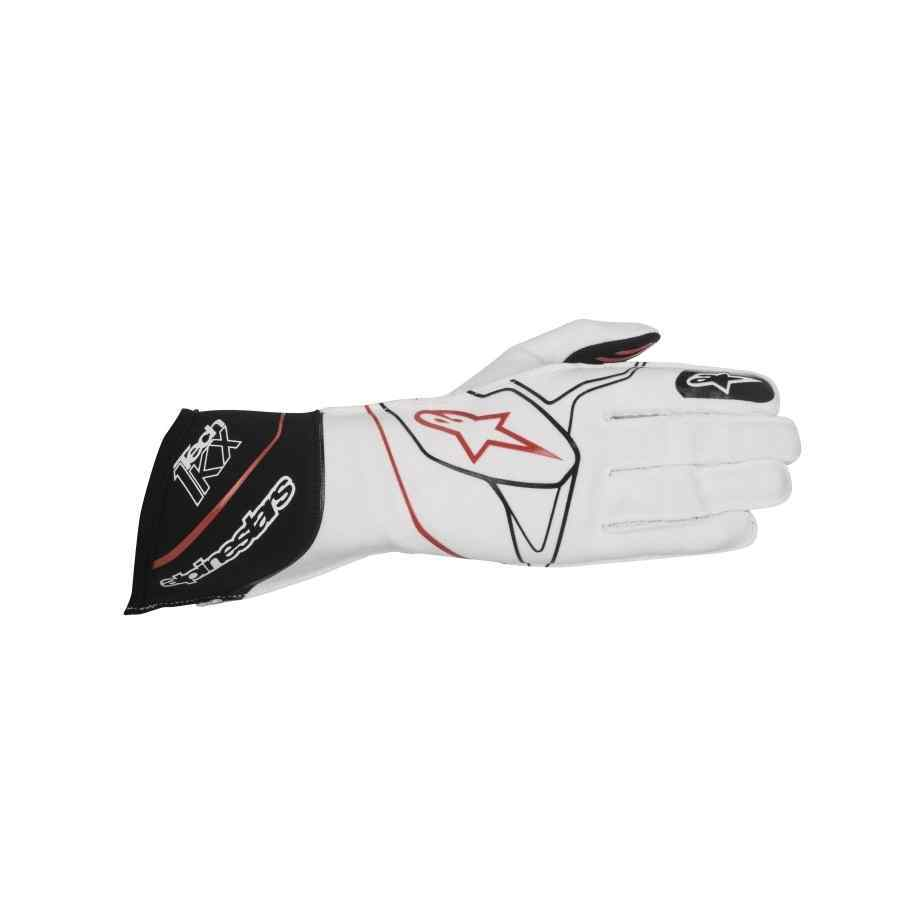 Alpinestars tech 1 kx karting handschoen wit zwart rood