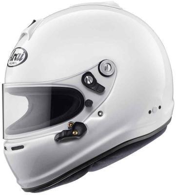 Arai GP6S Autosporthelm FIA keuring met M6 studs Hans clips optioneel