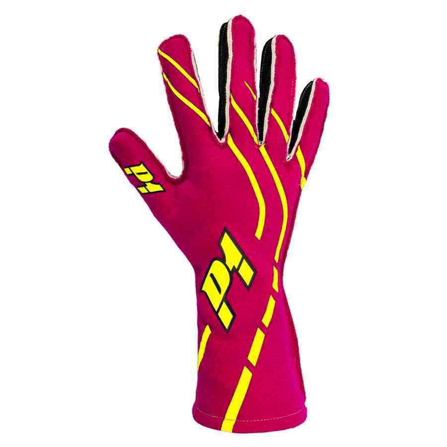 P1 Advanced racewear - gloves autoracing - Fuschia