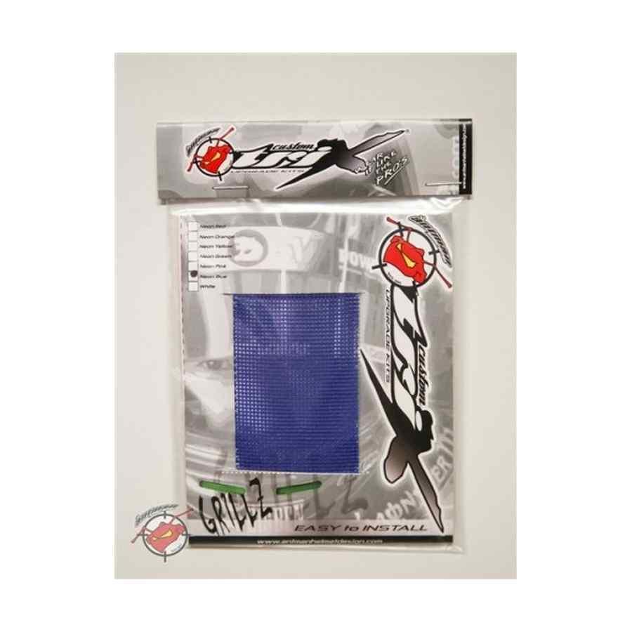 Grillz ventilatierooster voor kart- en autosporthelm kleur neon blauw