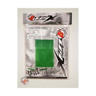 Grillz ventilatierooster voor kart- en autosporthelm in de kleur neon groen