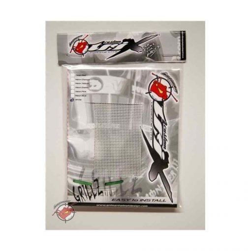 Grillz ventilatierooster voor kart- en autosporthelm in de kleur wit
