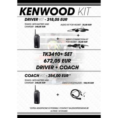 Kenwood communicatie voor rijder en begeleider - complete set
