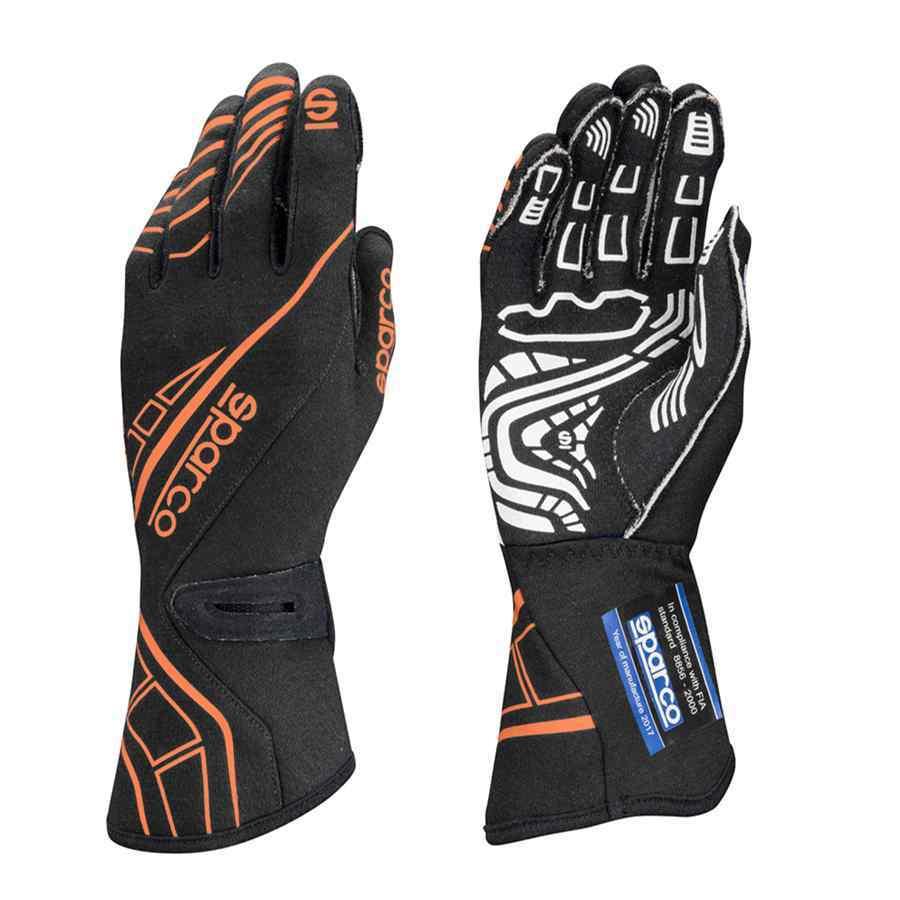 Sparco type lap RG5 handschoenen voor autoracing zwart fluo oranje