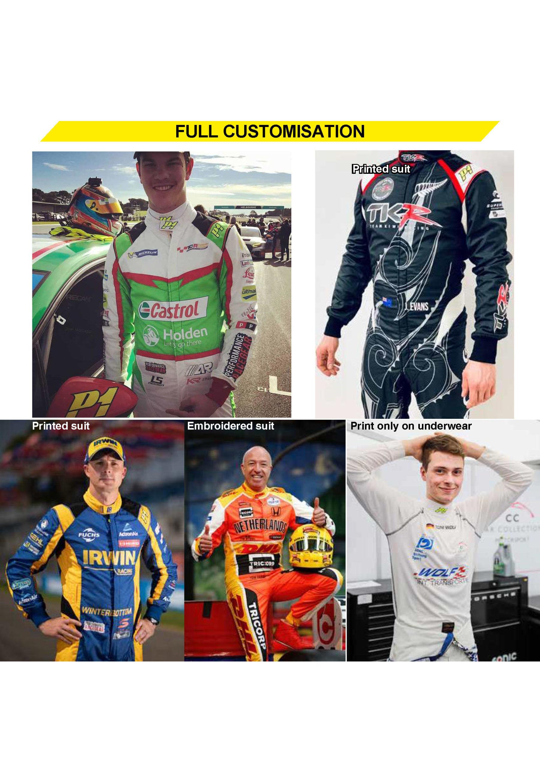 P1 FIA Race overall - Volledig op maat en in eigen design