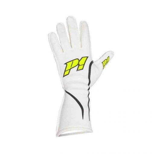 P1 Advanced Racewear handschoen autoracing type Grip - Wit