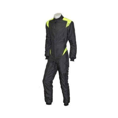 P1 Racewear type RS-F- FIA gekeurd overall - Zwart Anthraciet Fluo Geel