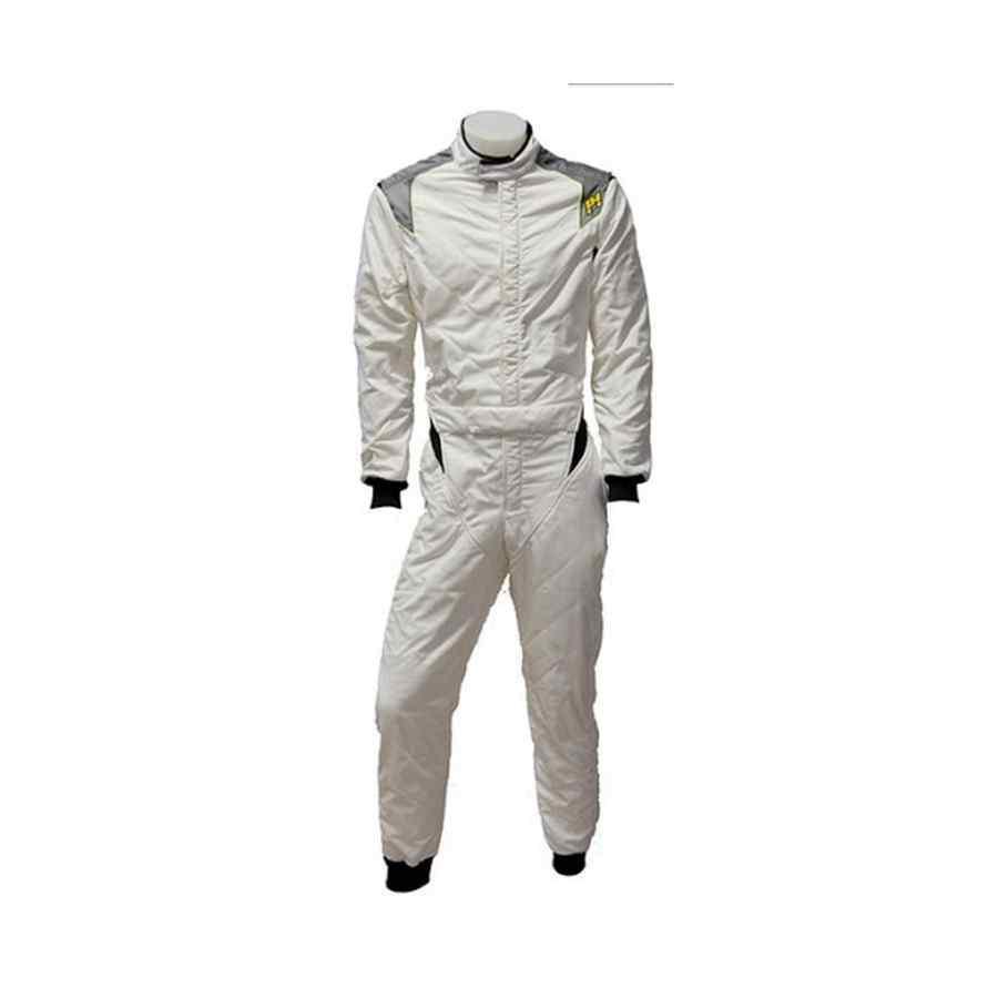 P1 RS GT FIA racepak - Zilver Anthraciet Standaardmaat