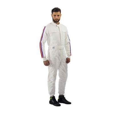 P1 Racewear overall Parabolica Wit Blauw Rood Vintage