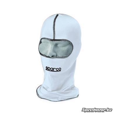 Sparco balaclava basismodel voor kartsport wit