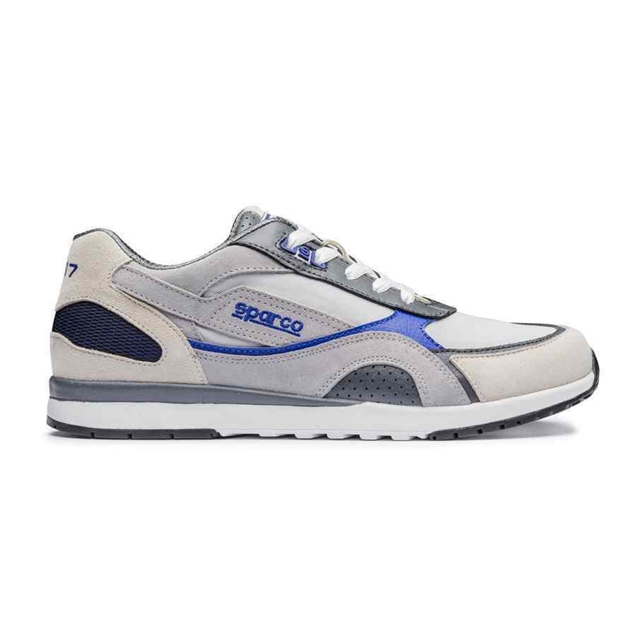 Sparco SH 17 mekaniekers loopschoenen voor heren zilver blauw