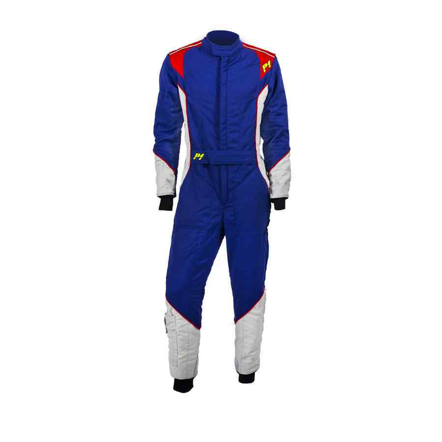 P1 Advanced racewear race overall type Smart X2 - Blauw Zilver