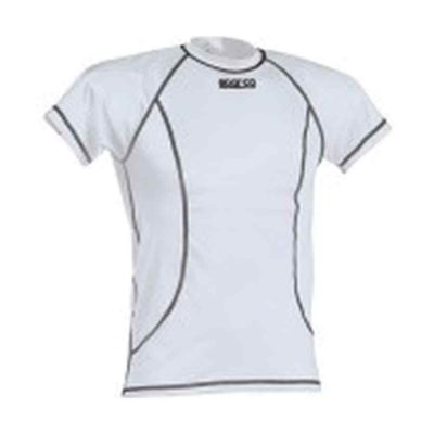 Sparco Basic Top Korte Mouw - Karting T-shirt Wit