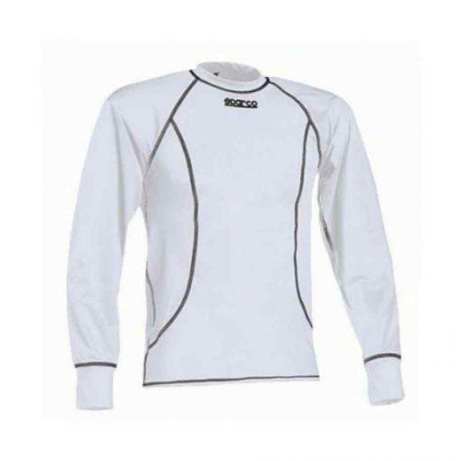 Sparco Basic Top Lange Mouw - T-Shirt Karting - Wit