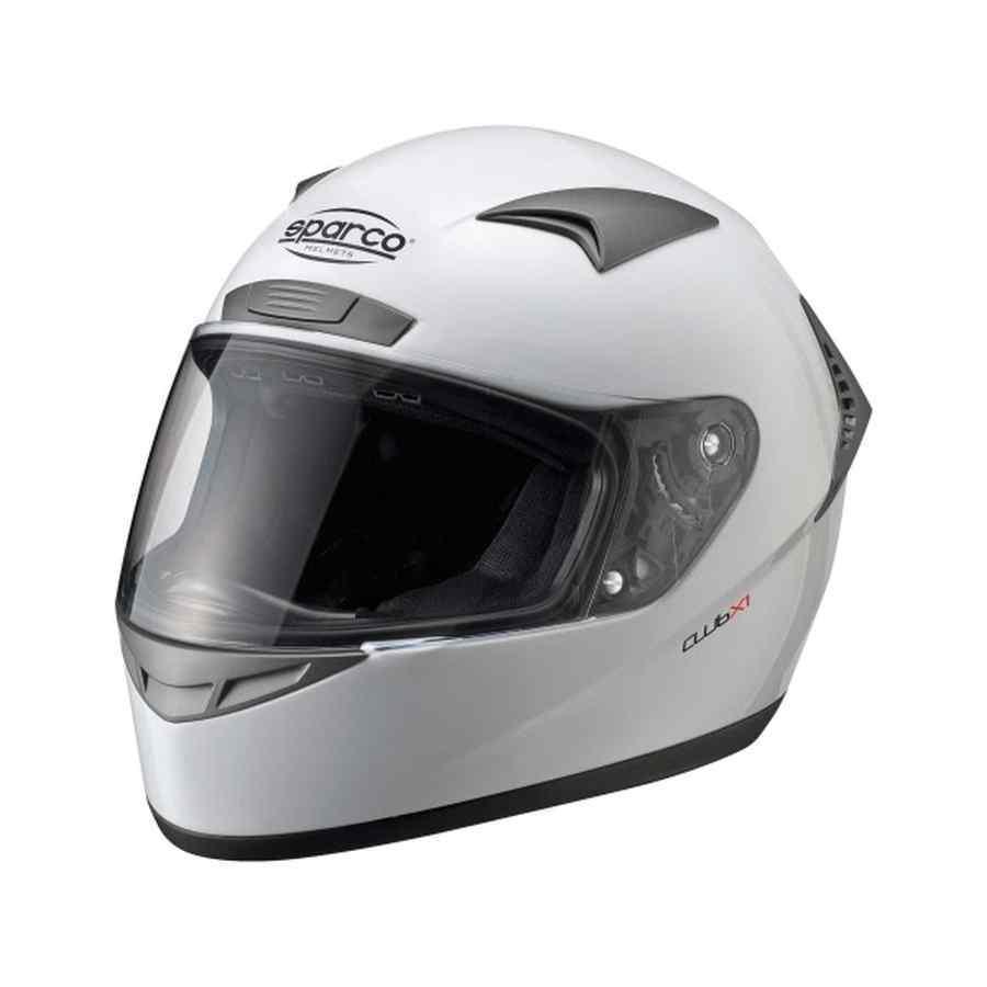 Sparco Club X1 goedkope helm voor hobby kartrijder Wit