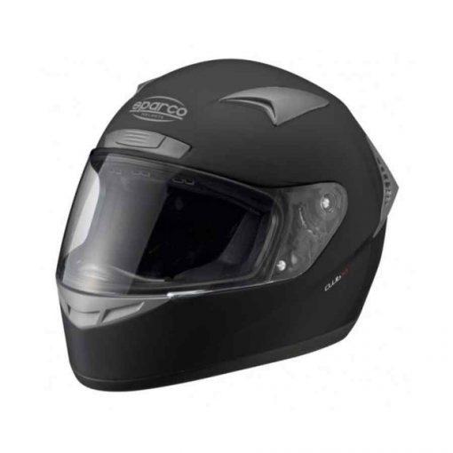 Sparco helm Club X1 Helm indoorkarting zwart budgetvriendelijk