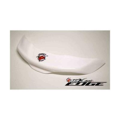 Spoiler wit voor achterop helm geschikt voor Arai en Bell