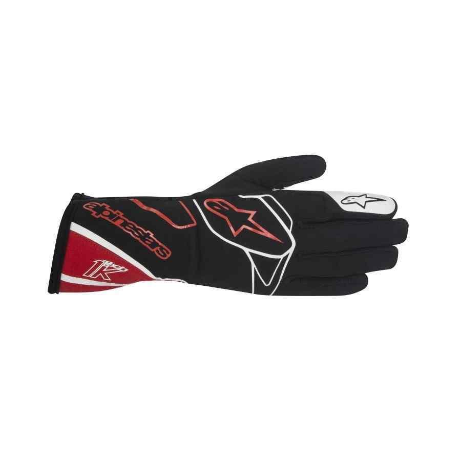 Alpinestars Tech 1 k handschoen indoor karting zwart rood wit