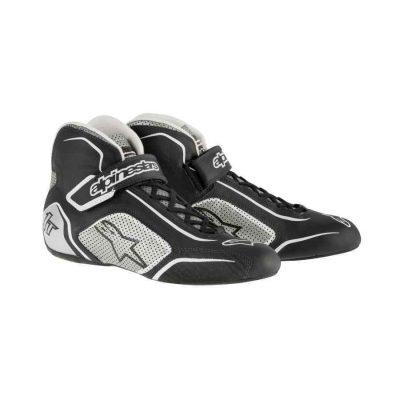 Alpinestars Tech 1 T schoenen voor driftsport Zwart Zilver