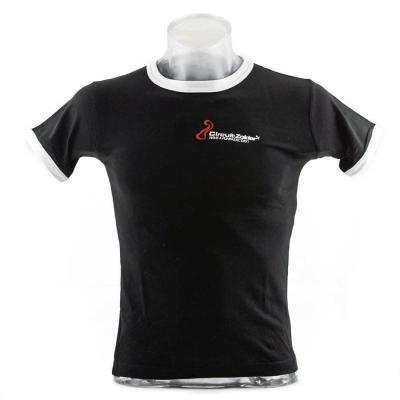 Funfastic T-shirt Circuit Zolder kinderen zwart met witte details