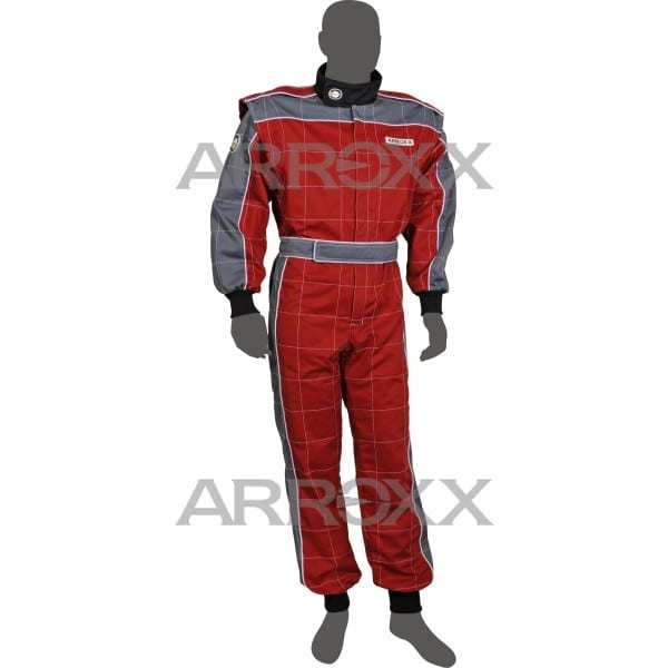 Arroxx Kart Pak Katoen Xbase - Volwassen - Rood Grijs