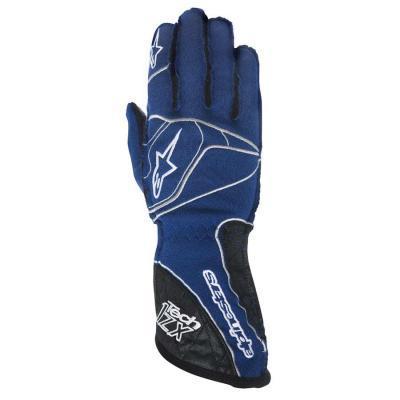 Alpinestars Tech 1 ZX Autosporthandschoen Blauw Wit Zwart