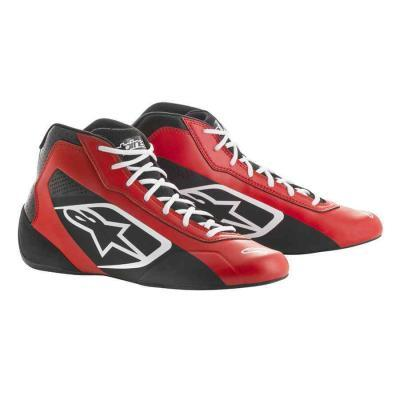Alpinestars tech 1 K start kartschoenen rood zwart wit