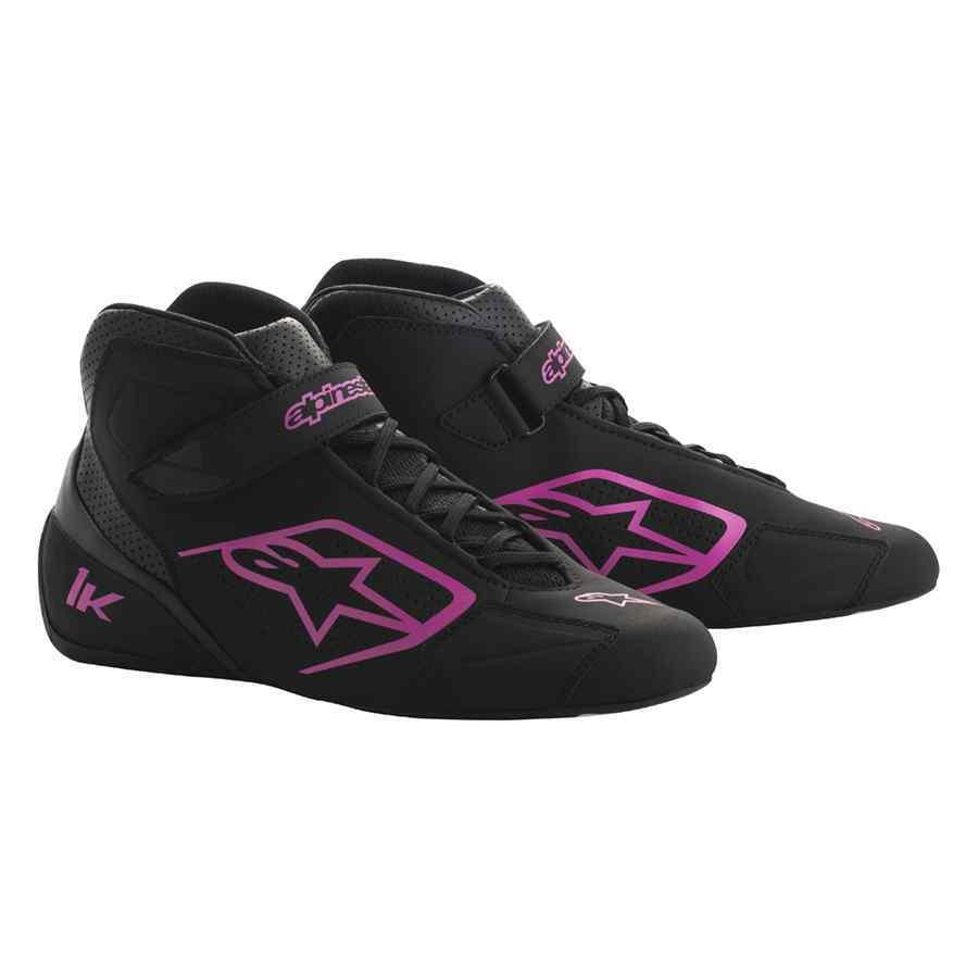 Alpinestars tech 1 K start schoenen voor kartsport zwart fuchsia