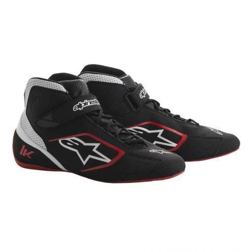 vAlpinestars Tech 1-K Karting schoen zwart wit rood