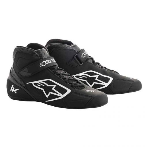 Alpinestars Tech 1-K Karting schoen zwart wit - Comfortabel