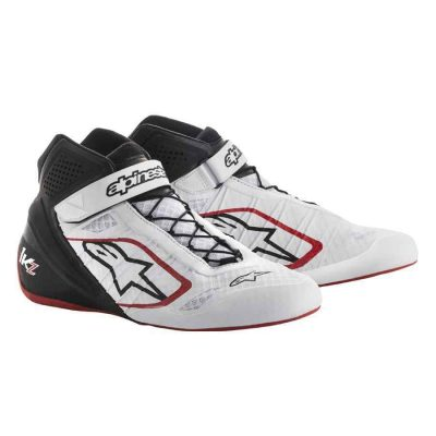 Alpinestars schoenen voor karting Tech 1 KZ wit zwart rood